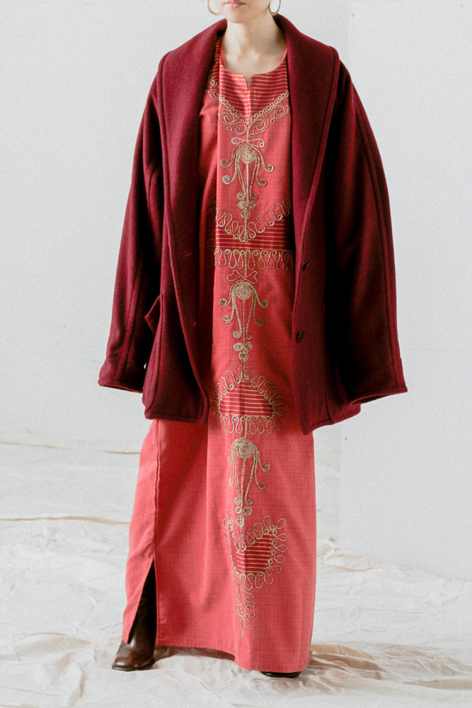 Oriental Code Embroidery Dress