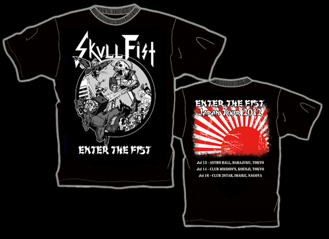 SKULL FIST 初来日記念限定Tシャツ