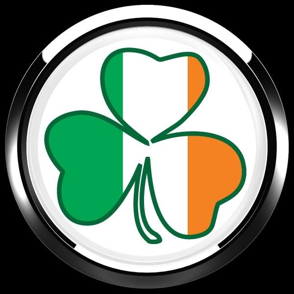 ゴーバッジ(ドーム)(CD0988 - Seasonal Irish Shamrock 1) - 画像2