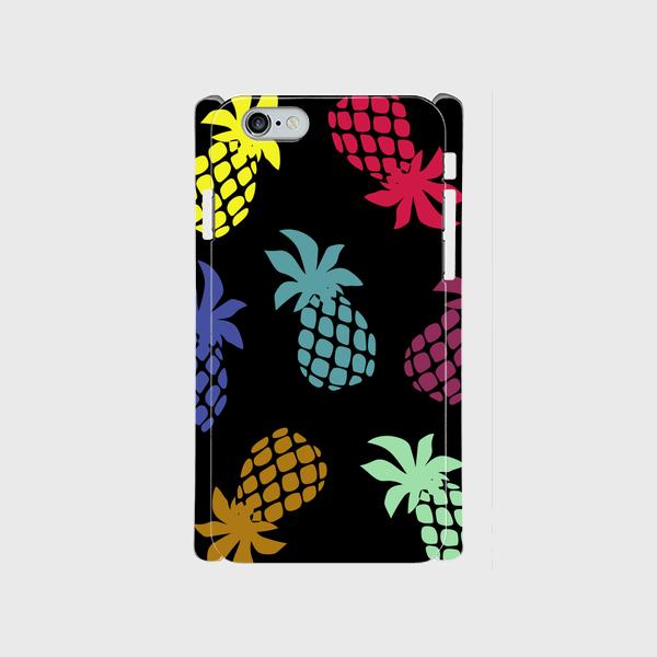 iPhone6/6sスマホケース ☆pineapple☆multi☆側表面印刷ツヤ有り(コート)pineapple☆malti