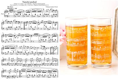 【ガラス用】楽譜転写紙 ホワイト A4サイズ (ポーセリンアート用転写紙)