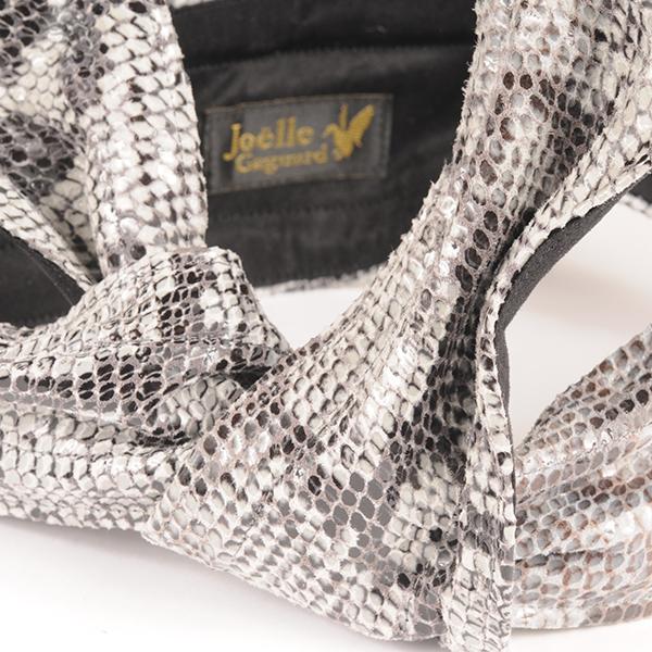 Joe17AW-26 python leather wire tie (gray)