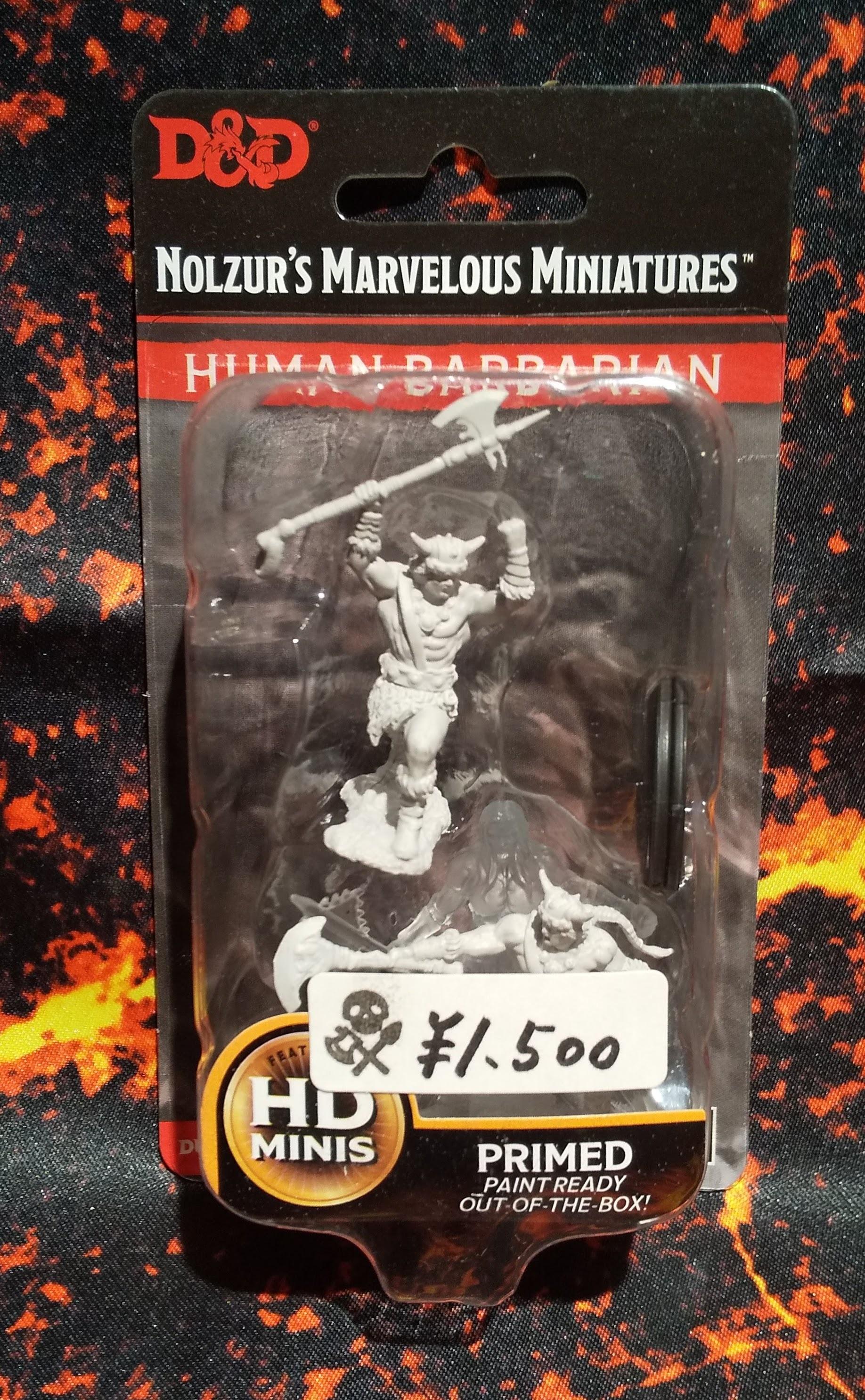 Male Human Barbarian(D&Dオフィシャルミニチュア「Nolzur's Marvelous Unpainted Miniatures」シリーズ)