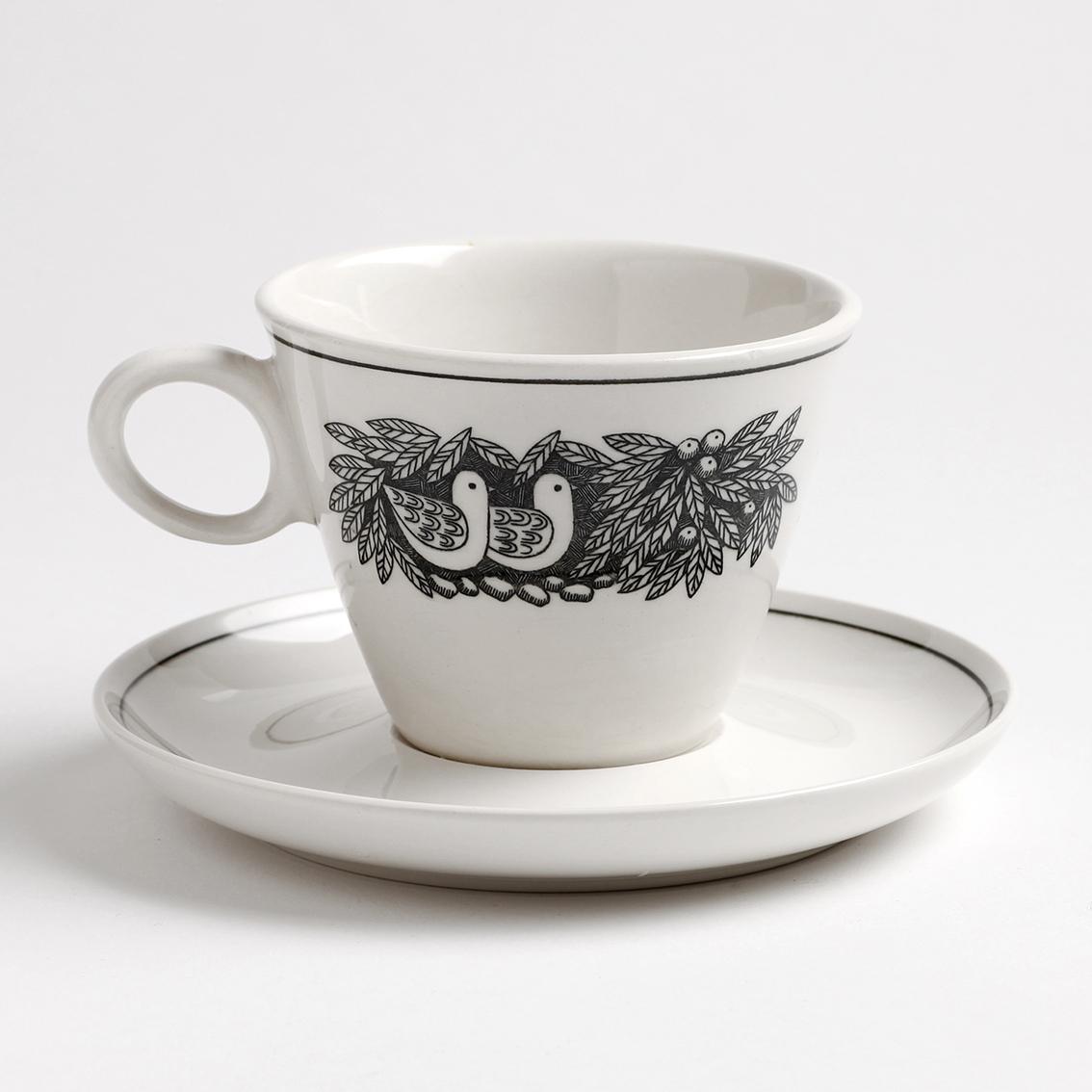 Franciscan フランシスカン Bird N' Hand 手の中の小鳥のカップ&ソーサー - 2 アメリカンヴィンテージ ★わけあり★
