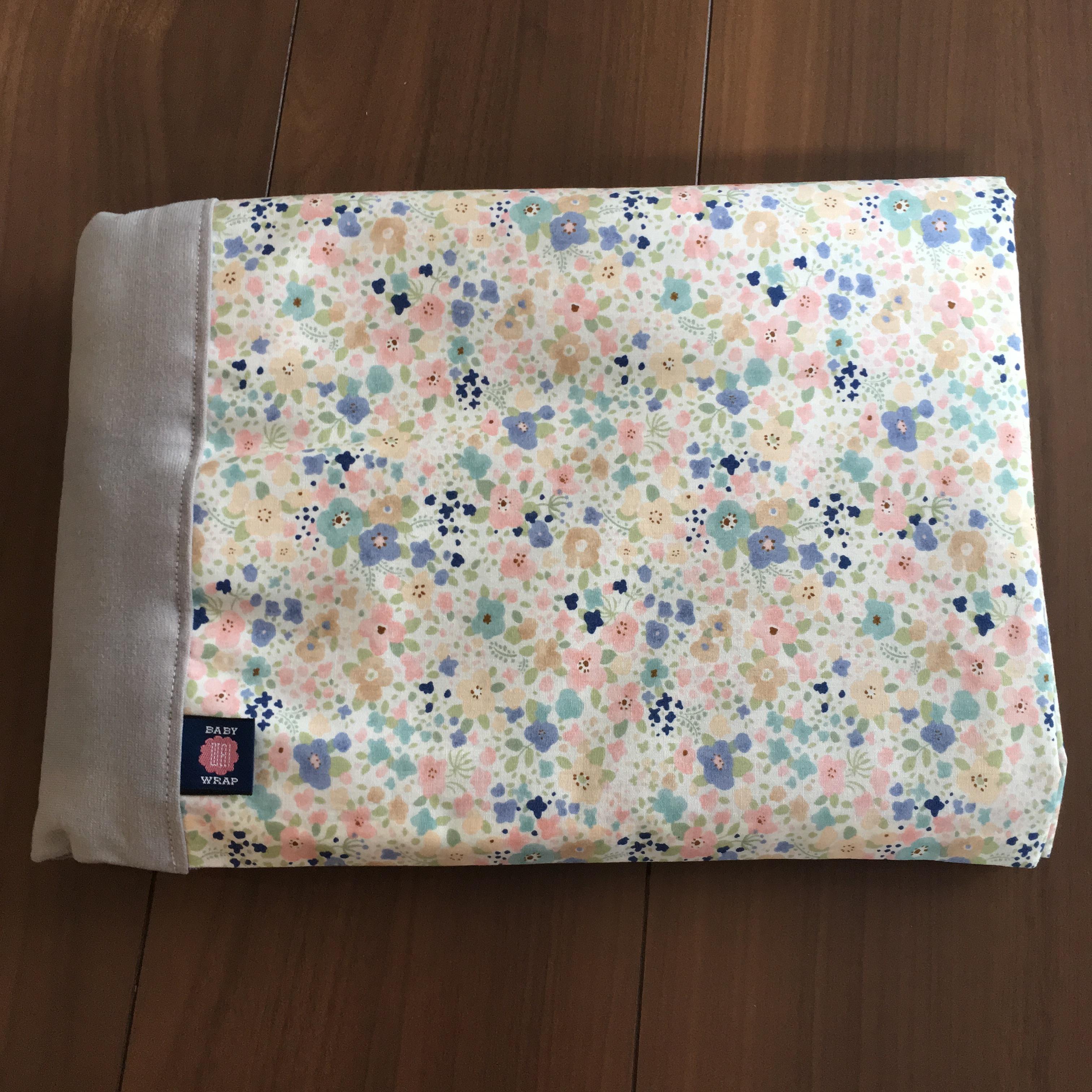 WA wrap /  ピンク・水色・グレー小花