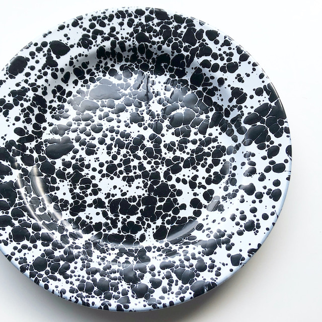 "CROW CANYON HOME ""DINNER PLATE BLACK"" φ26cm"
