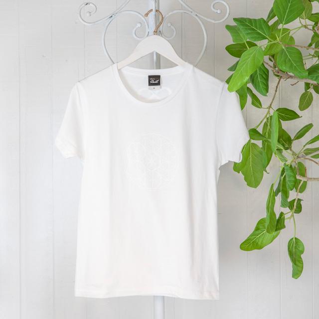 高次元波動Tシャツ フラワーオブライフ 白