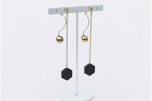 ilocami  SP-2  PIERCE/EARRING【CHARCOAL】