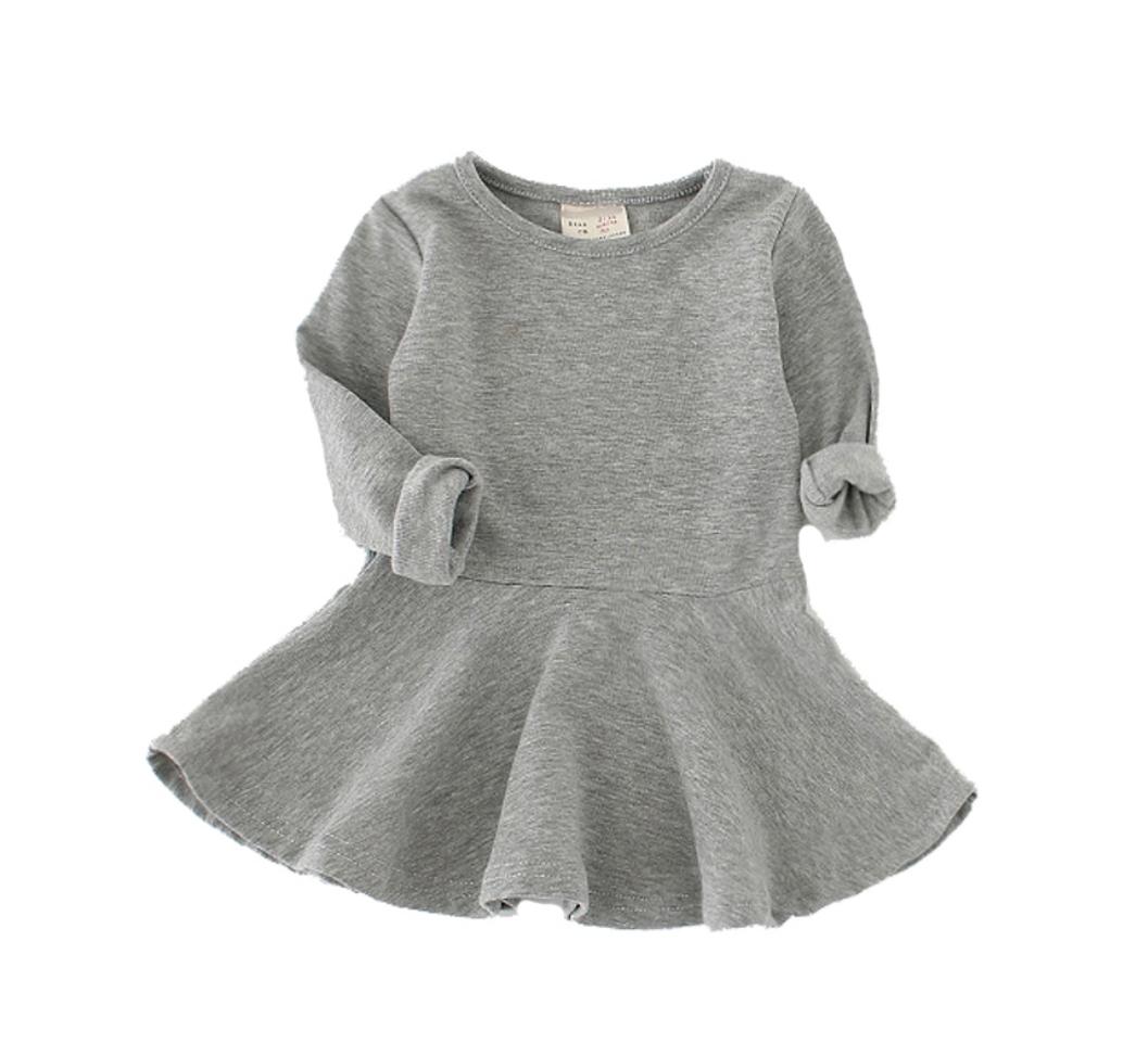 ff1bd18529e79 選べる7色 全色揃えたいシンプルな長袖 フレアワンピース ガールズ 女の子 ベビー キッズ. シンプルで普段使いにオススメ! 全色で 揃えたい長袖フレアワンピースです。