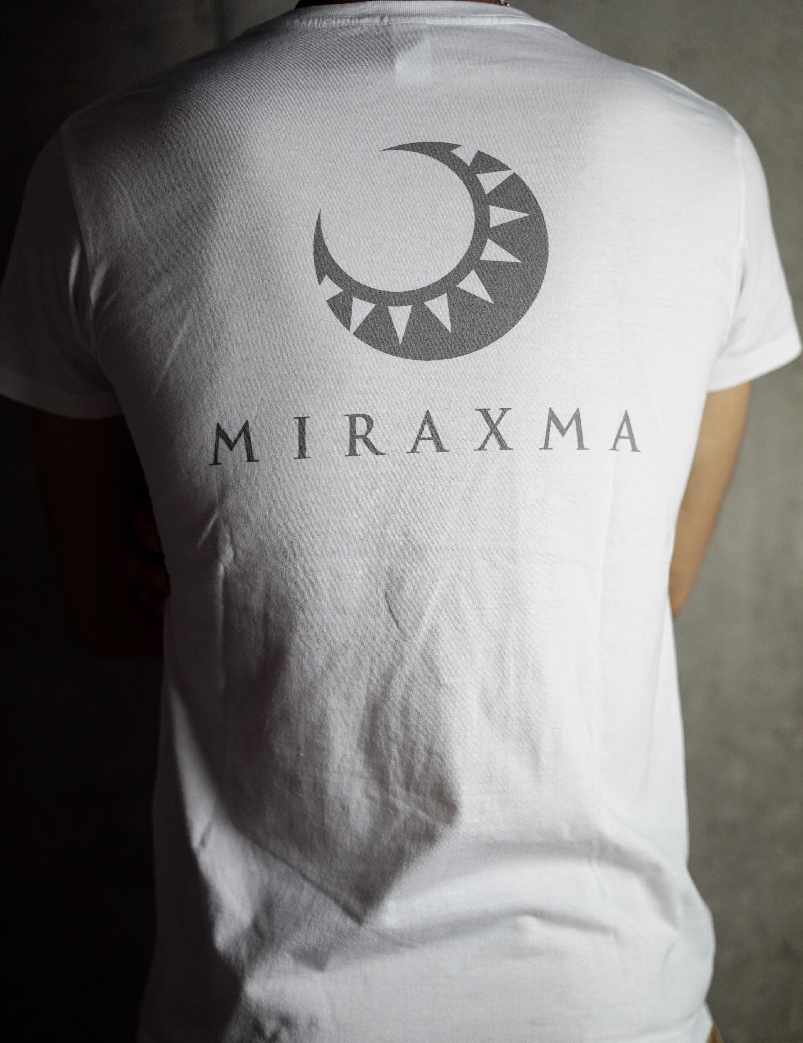【限定モデル】半袖/ホワイト/背中シルバー | MIRAXMA-ミライイマ-