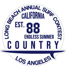"""048 ロングビーチサーフコンテスト""""California Market Center"""" アメリカンステッカー スーツケース シール"""