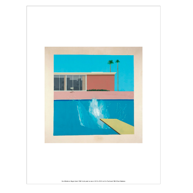 "David Hockney ""A Bigger Splash"" 1967 Poster 30×40cm"