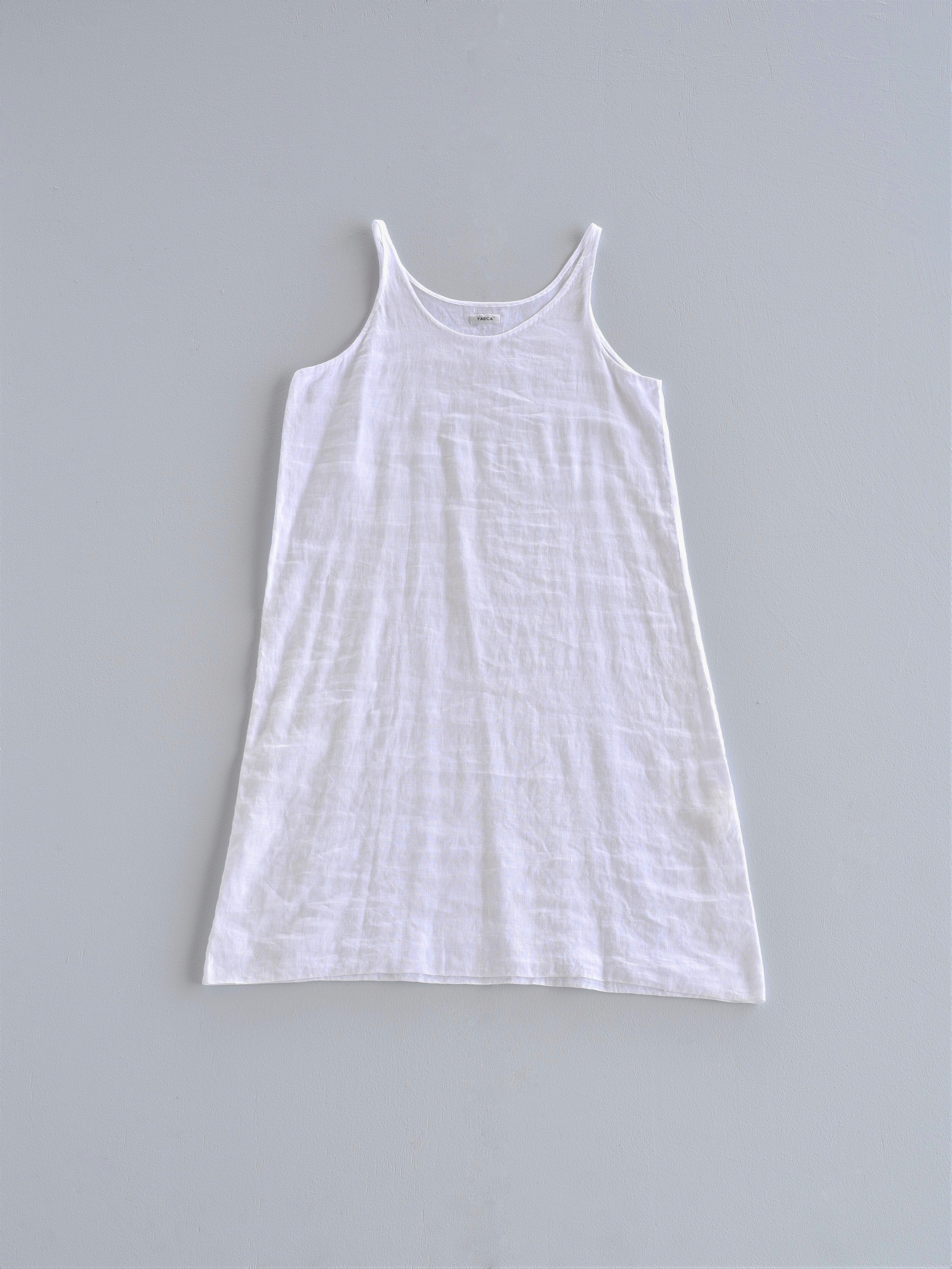 YAECA khadi |インドハンドドレス スリップ white