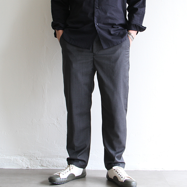 STILL BY HAND  【 mens 】wool easy pants