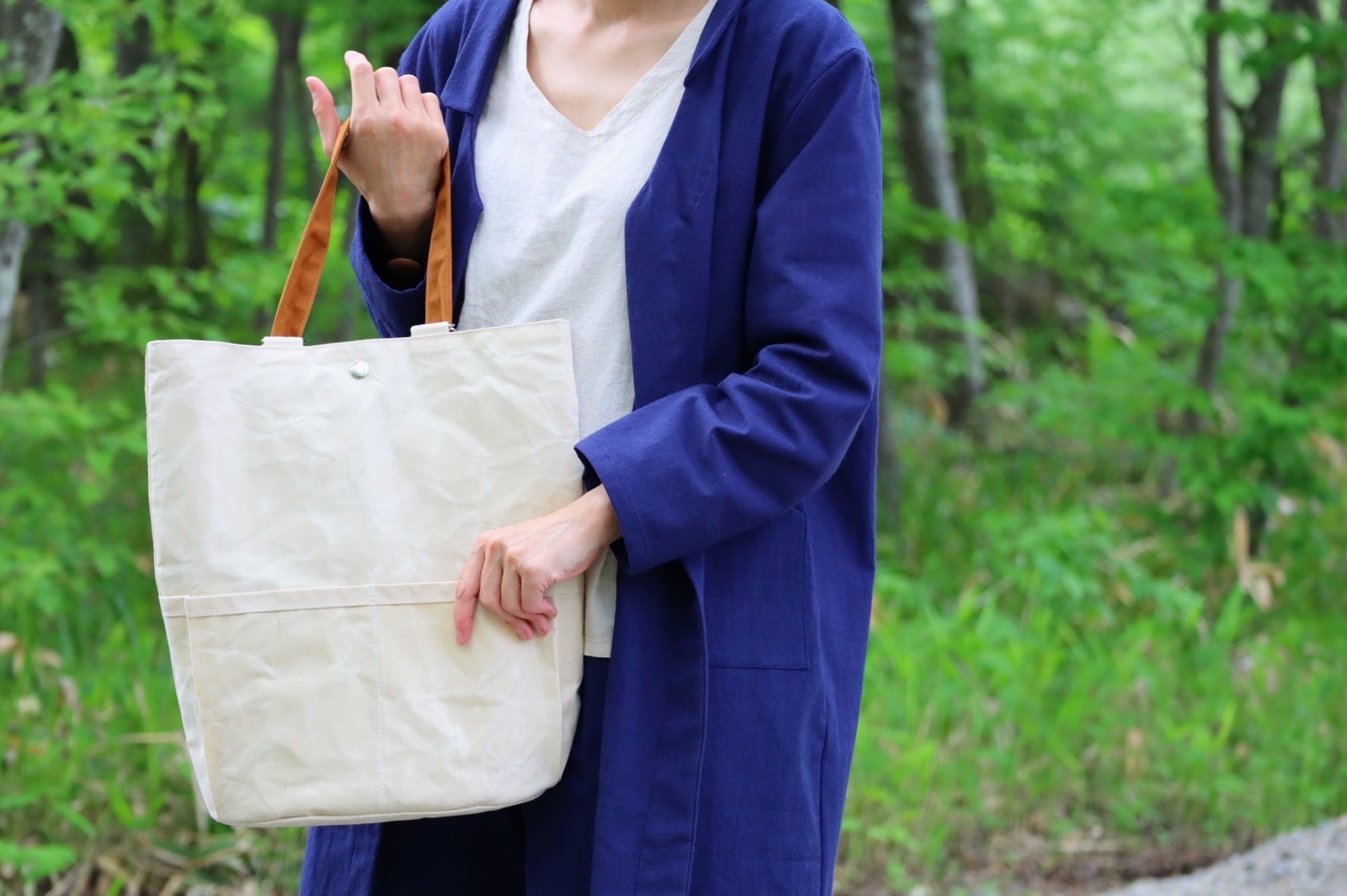 【限定受注品】帆布リュックバッグ/2way 生成