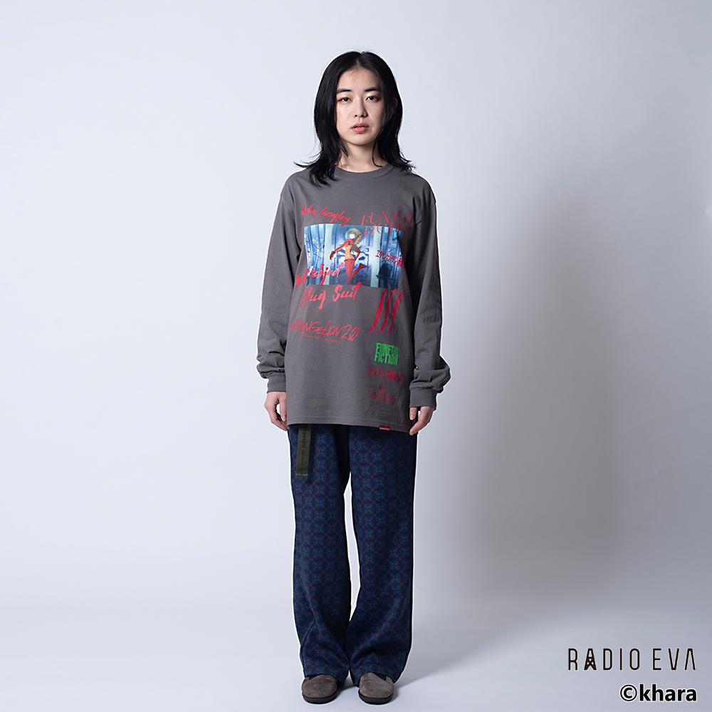 Asuka Langley Shikinami-Test Plug Suit L/S Tee (CHACOAL)  /  RADIO EVA