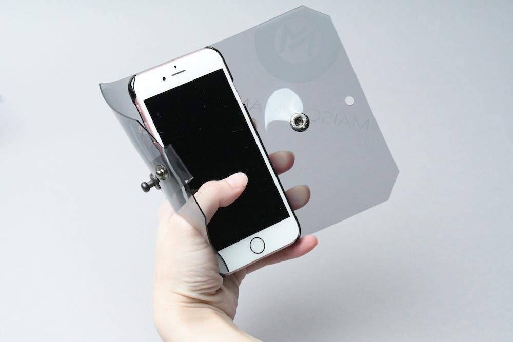 送料無料・ SE2/8/7/6S/6 iphone case □スモークグレー□ - 画像3