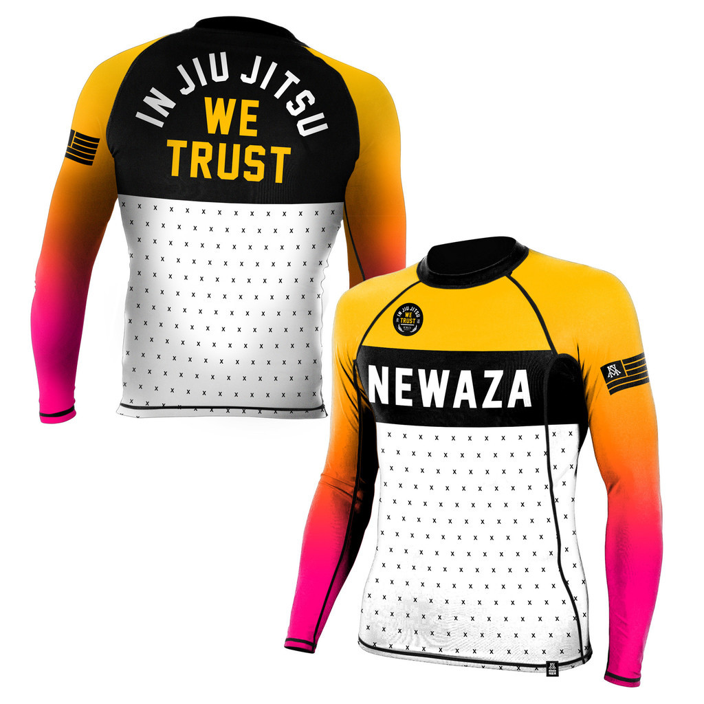 Newaza In JiuJitsu We Trust Rashguard Long Sleeve |長袖 ラッシュガード ブラジリアン柔術 格闘技 ノーギ グラップリング