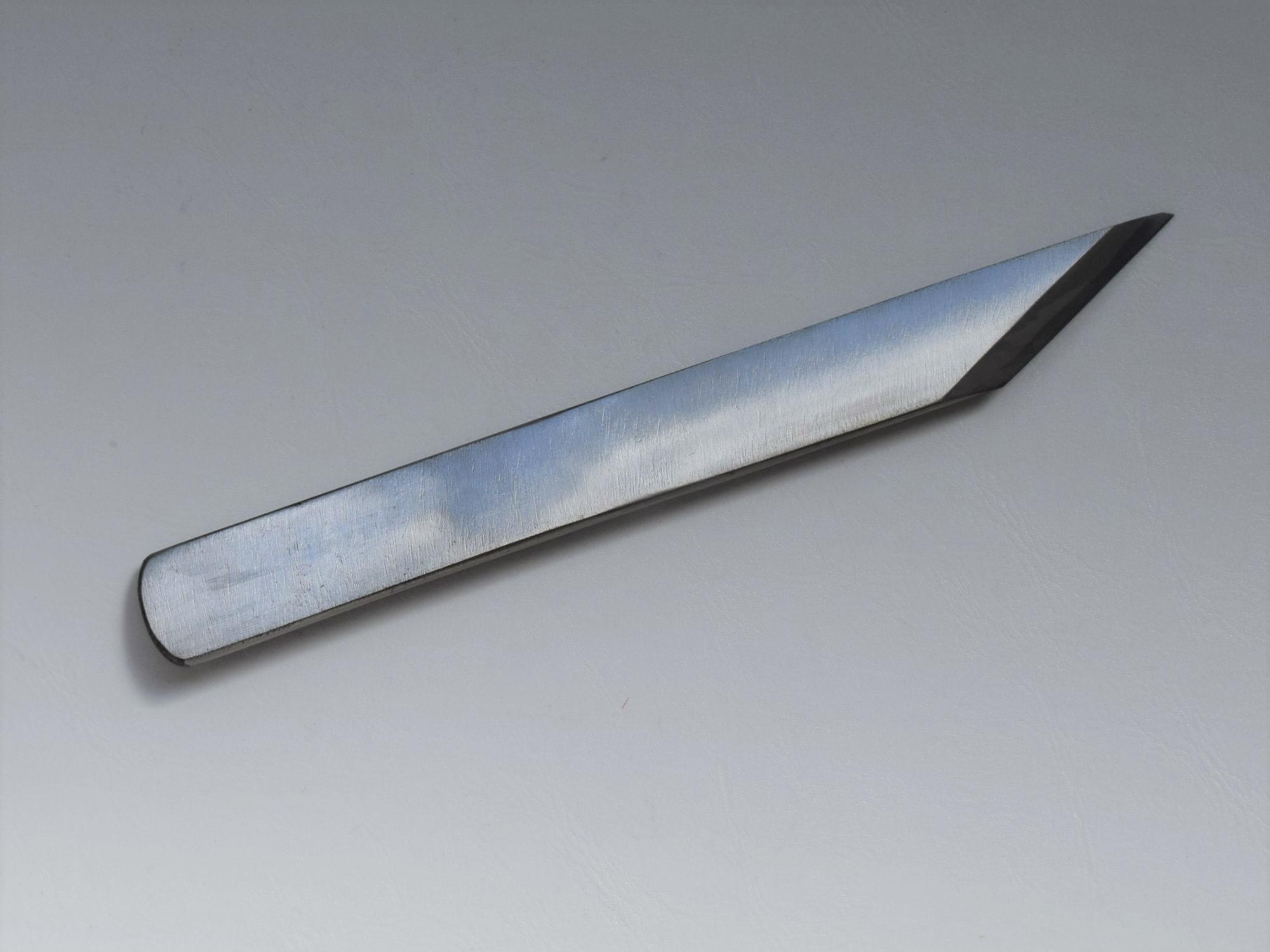切り出し(磨き) 片刃 厚手 25㎜