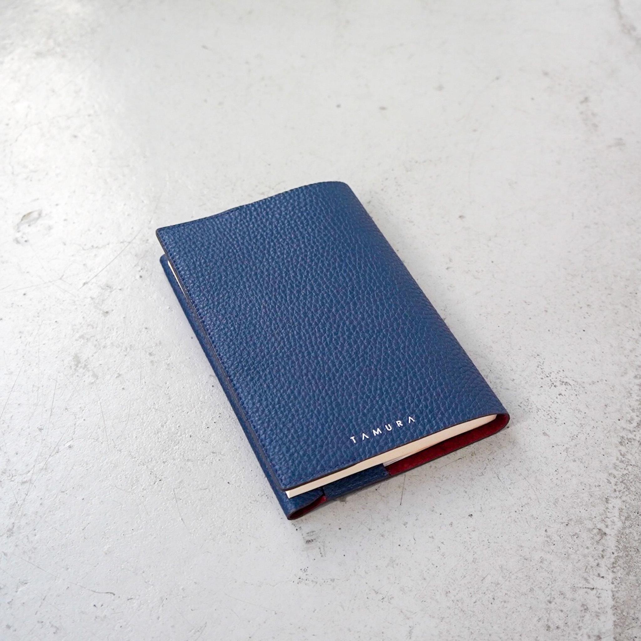 BOOK COVER(文庫サイズ)ブルー × レンガ