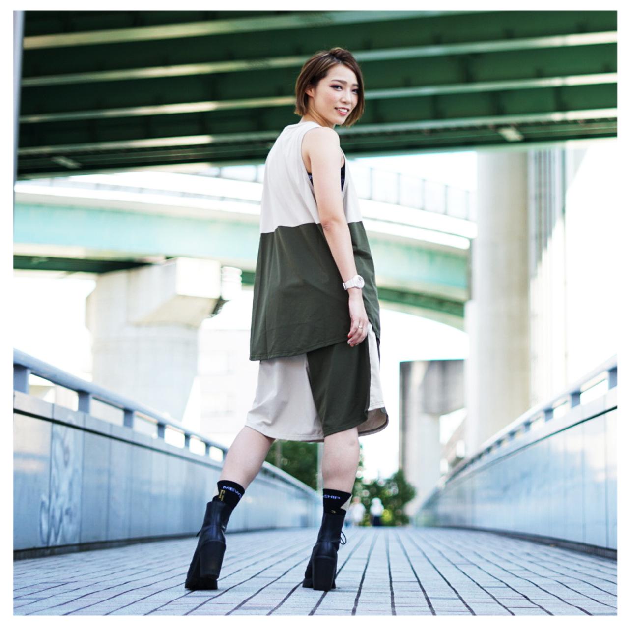 LOGO street shorts <Khaki×Beige>  - 画像4