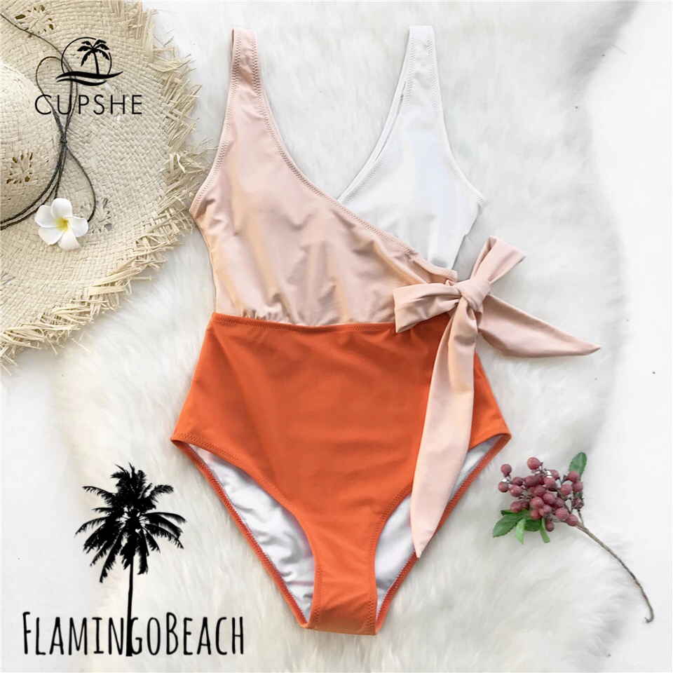 【FlamingoBeach】orange monokini モノキニ