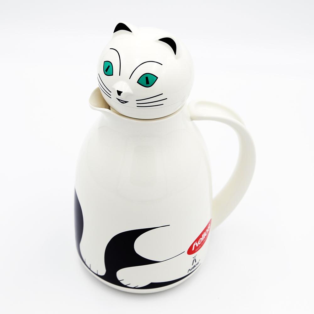 猫卓上魔法瓶(ヘリオスサーモキャット)ホワイト