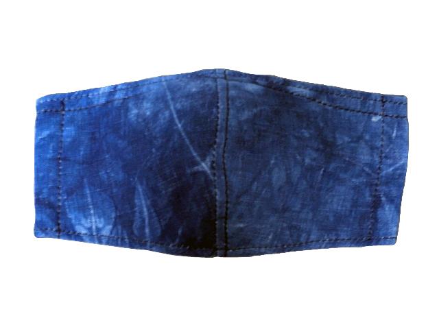 藍染立体型マスク(フィルターポケット有)