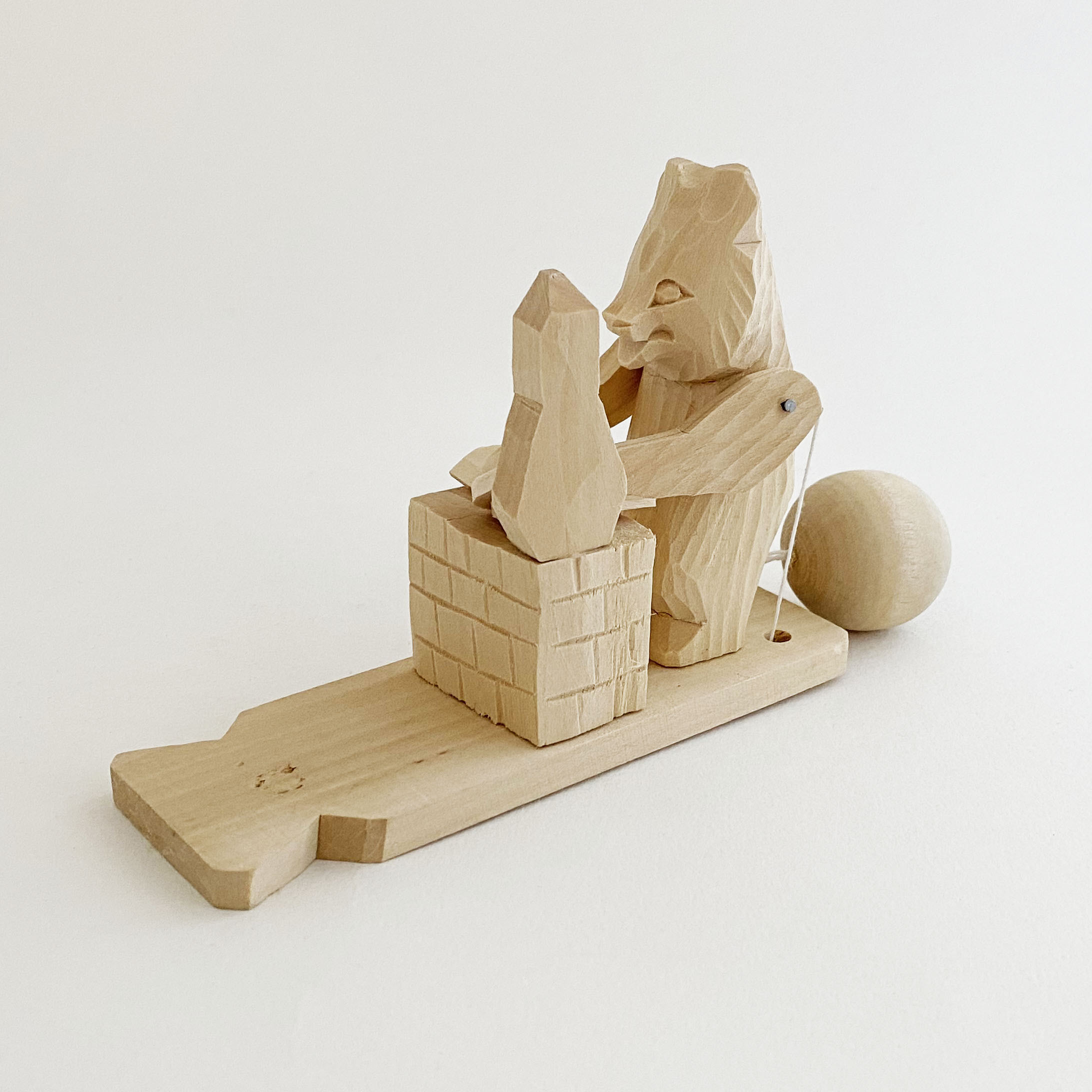 ボゴロツコエ木地玩具「クマのパンケーキ」