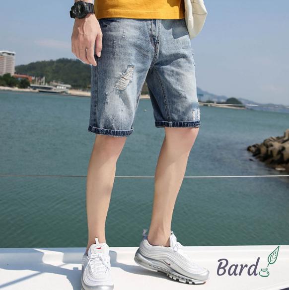 ハーフパンツ メンズ ショートパンツ 大きいサイズ デニムパンツ ショーツ ジーンズ ダメージ 夏 スリム デニム 短パン