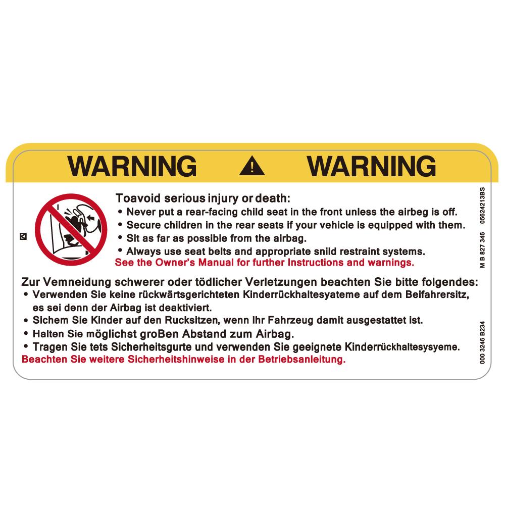 "177 WARNING! AIR BAGS ""California Market Center"" アメリカンステッカー スーツケース シール"