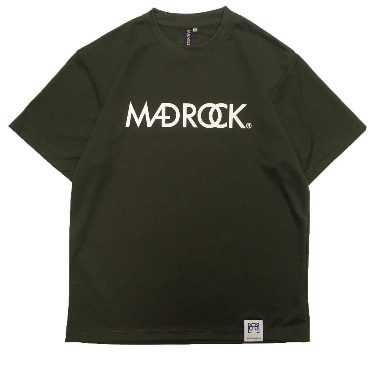 マッドロックロゴ Tシャツ/ドライタイプ/アーミーグリーン&ホワイト
