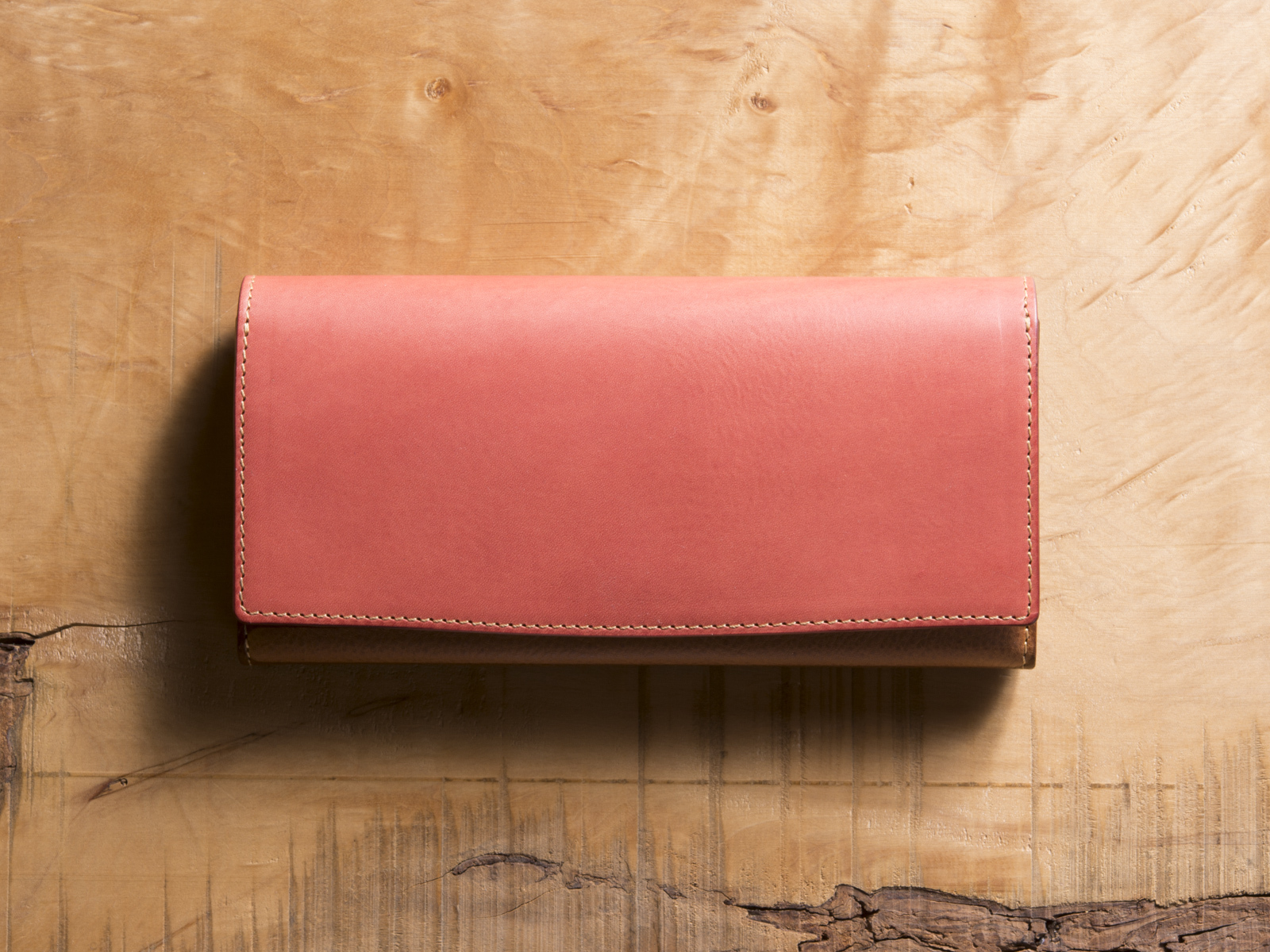 Basic Long wallet #コーラル