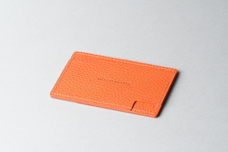 パスケース □オレンジ□  イタリアンレザー - 画像1
