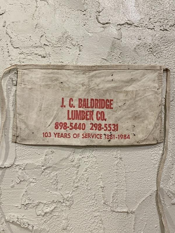 "WORK APRON   "" J.C.BALDRIDGE LUMBER CO. """
