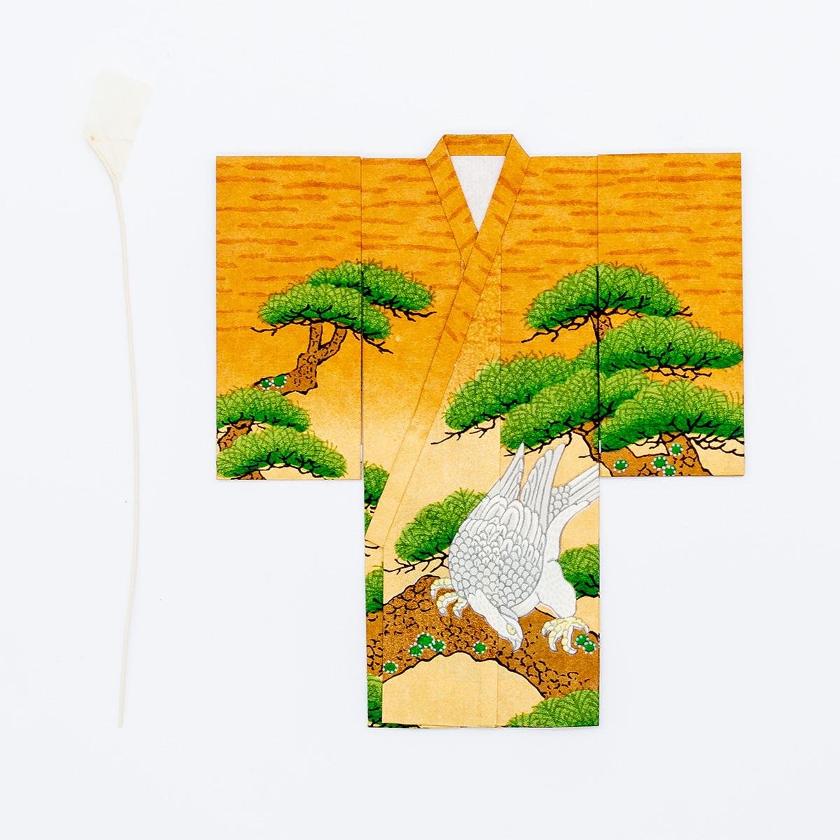 京の七夕さん(紙衣)お仕立上がり 男物柄 茶色