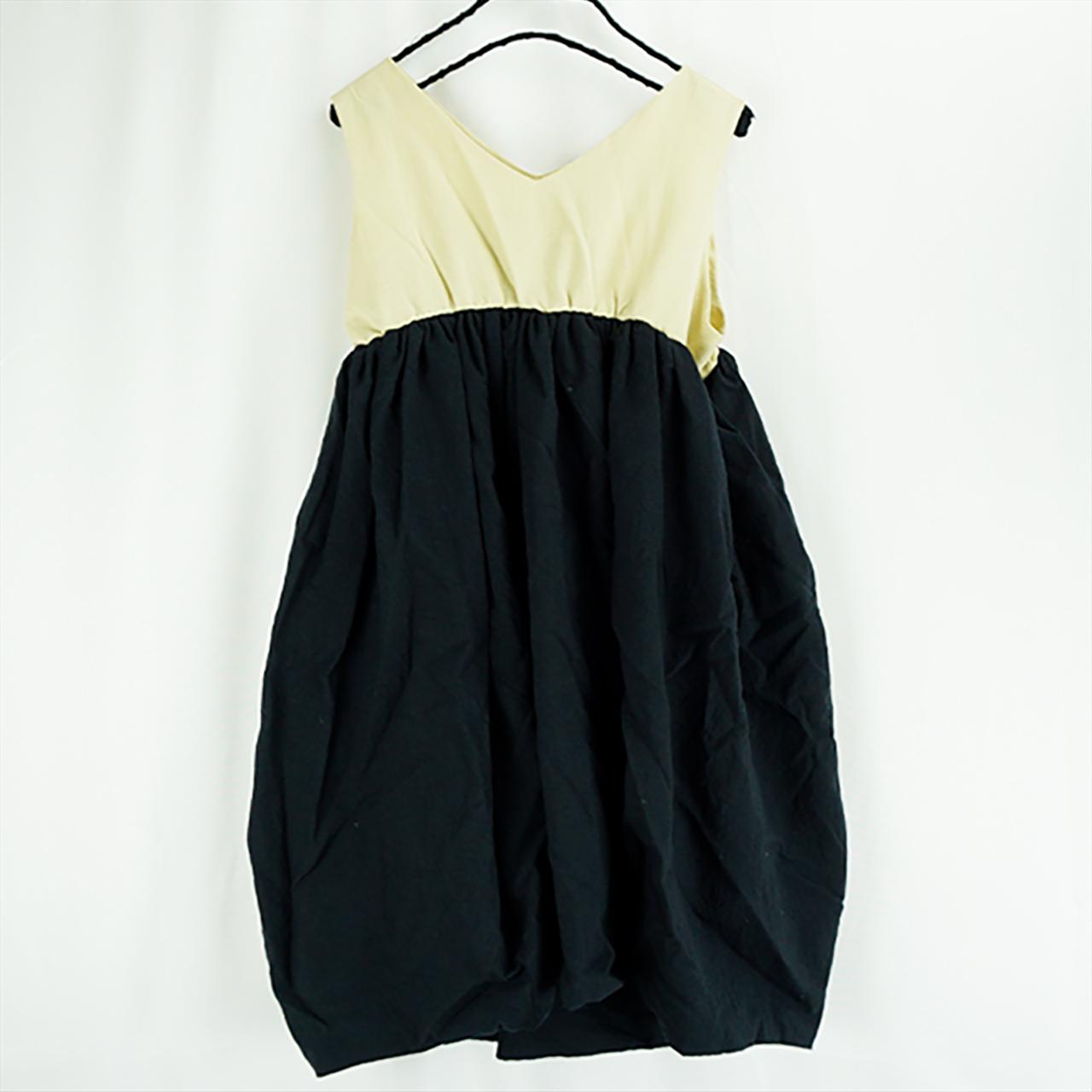 V-NECK DRESS DYED / WOMEN