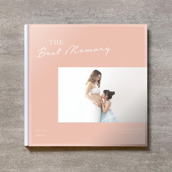 Simple pink-MATERNITY_A4スクエア_10ページ/20カット_クラシックアルバム(アクリルカバー)