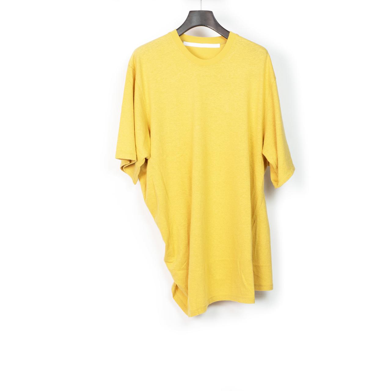 697CUM10-YELLOW / サイドドレープ Tシャツ