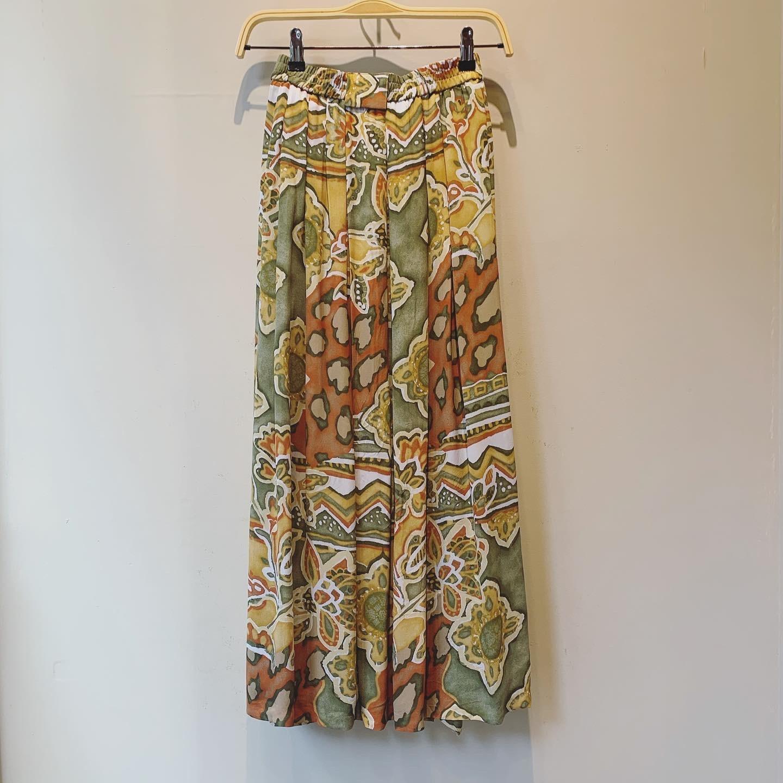 vintage Euro viscose skirt