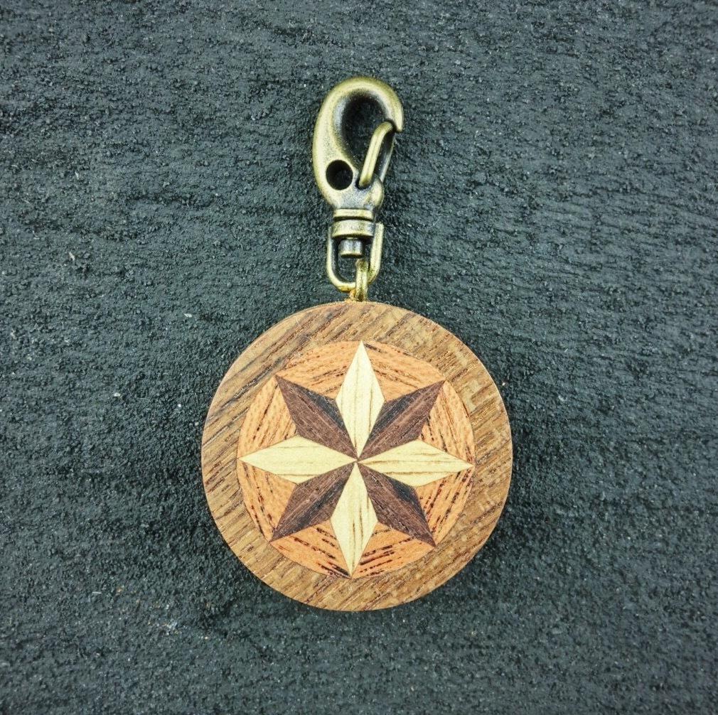 wooden inlaid charm IH-018-TK