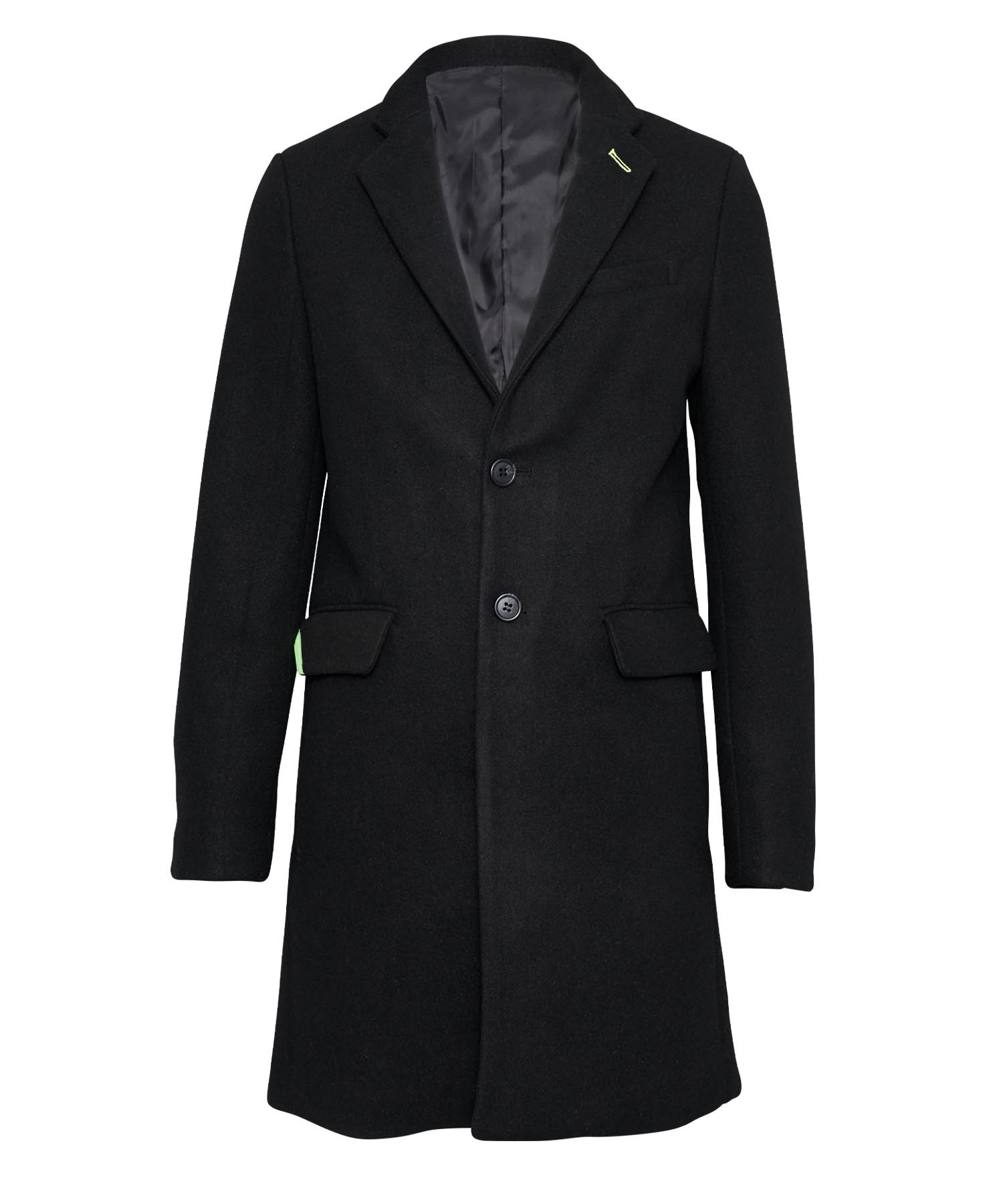 WOOL SLIM CHESTER COAT[RUJ012]