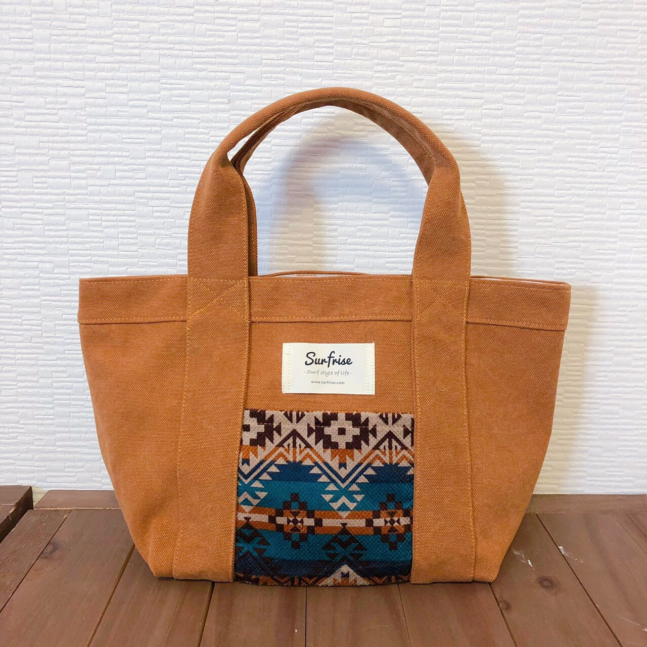 Camel camp tote bag S - Blue
