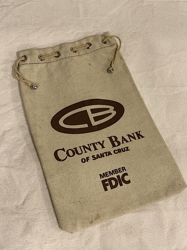 "BANK BAG "" COUNTY BANK """