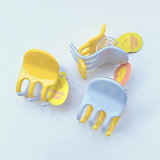 "Chunks ""Jester Mini Claw"" Yellow Blue チャンクス バンスクリップ・ヘアピン"
