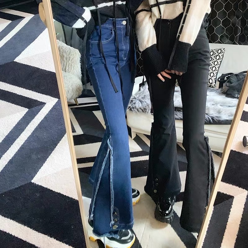 side design wide pants