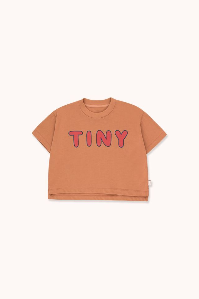 """TINYCOTTONS タイニーコットンズ """"TINY"""" CROP TEE  size:2Y(95-100)-12Y(140-155)"""