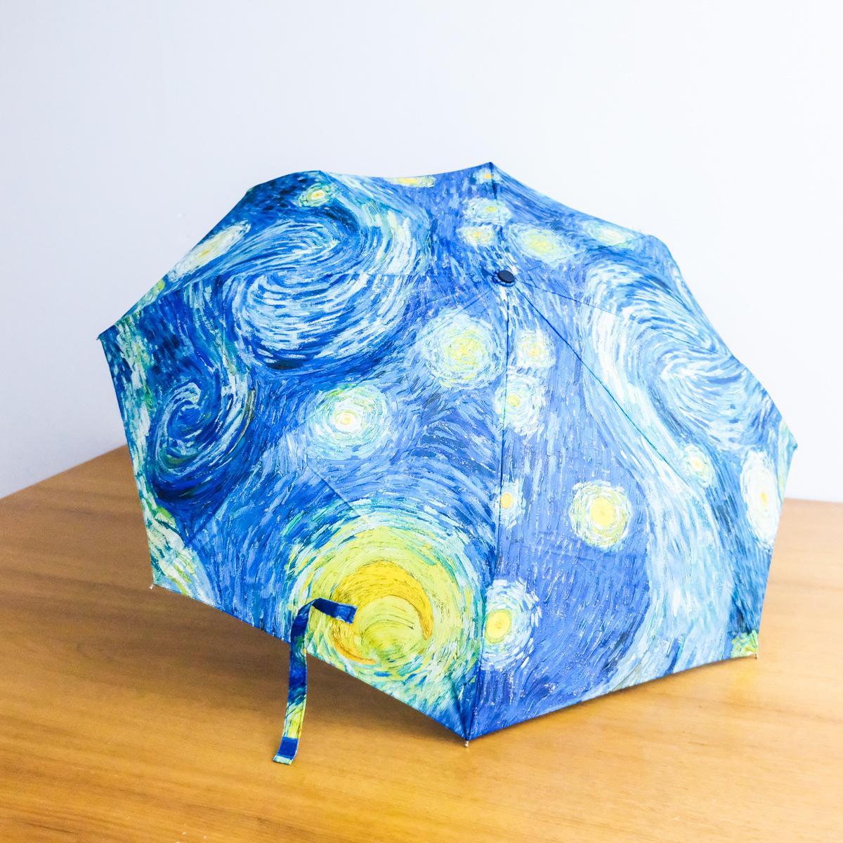 折り畳み傘 ゴッホ 星月夜