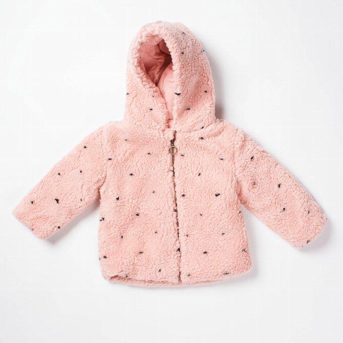 BOBOCHOSES  Fur jacket Dots / 2-3Y