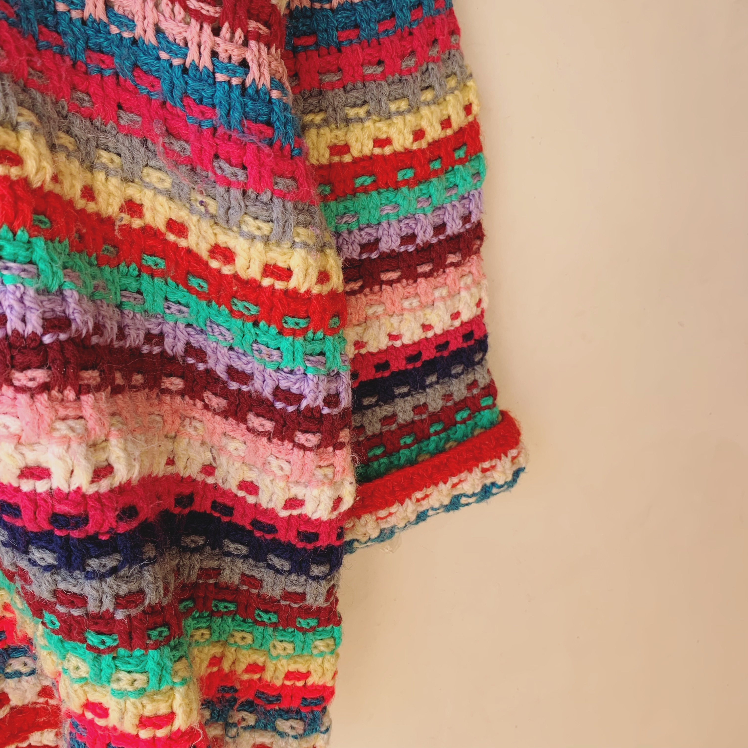 vintage colorful knit cardigan